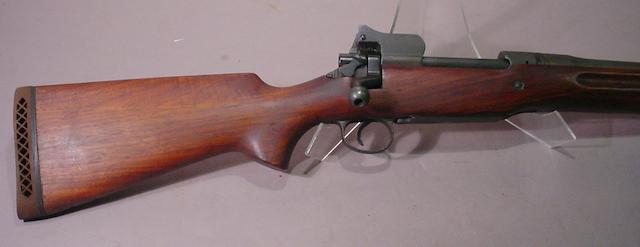 A sporterized U.S. Model 1917 Enfield/Eddystone military rifle