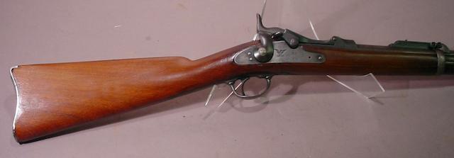 A U.S. Model 1884 Trapdoor Springfield carbine