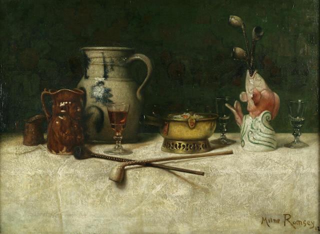 Milne Ramsey (American, 1847-1915) Still Life 22 x 29 3/4in