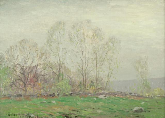 Wilson Henry Irvine (American, 1869-1936) Spring Landscape 10 1/4 x 14 1/4in