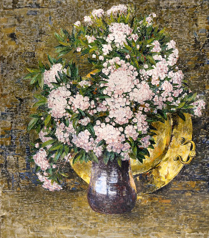 Dines Carlsen (American, 1901-1966) Mountain Laurel 40 x 35in