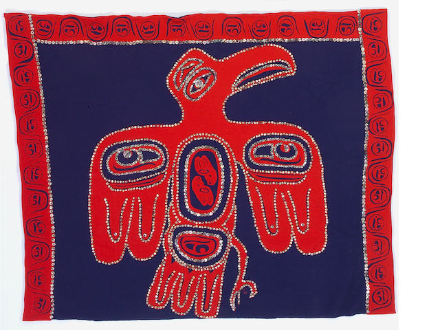 A Northwest Coast button blanket