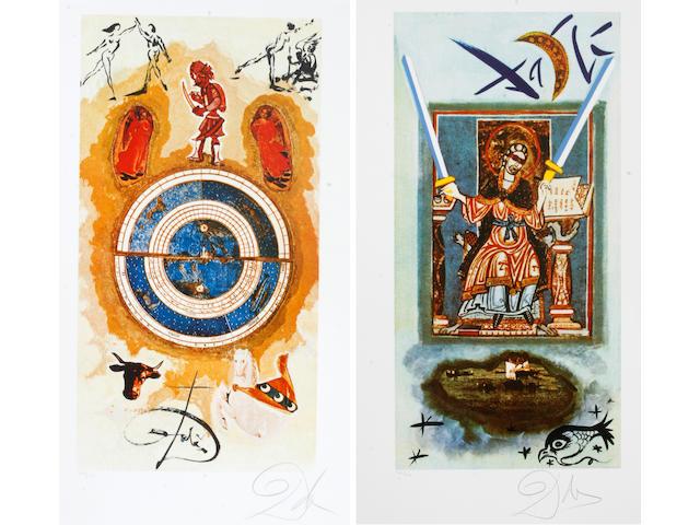 Salvador Dalí (Spanish, 1904-1989); Lyle Stuart Tarot Suite; (6)