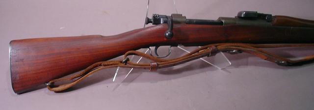A U.S. Model 1903 Remington bolt action military rifle
