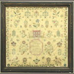 An English needlework sampler