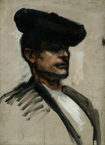 John Singer Sargent (1856-1925) Head of a Spanish Musician 19 1/4 x 14 1/2in