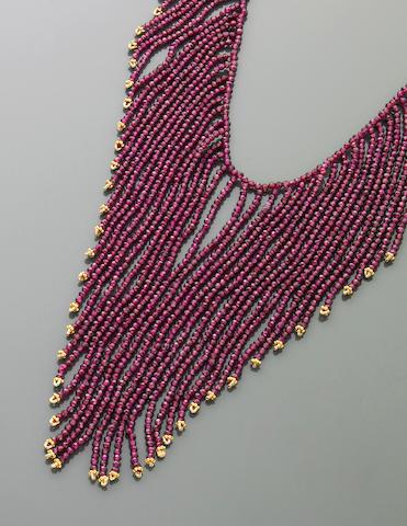 Rhodolite Garnet Fringe Necklace