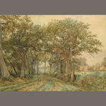Thomas Baker, A pair of landscapes (2), signed, each wc/paper, 9 1/2 x 13 1/2in