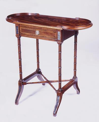 A Regency style mahogany table