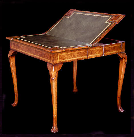 A George II style walnut games table