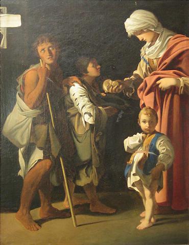 After Bartolomeo Schedoni La Carità 27 1/4 x 20 3/4in