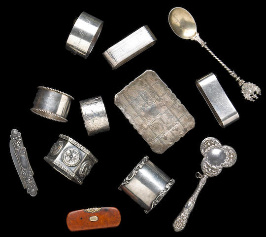 Group of Assorted Small Silver Items