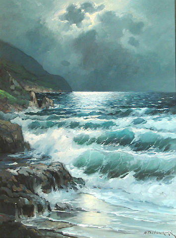 Alexander Dzigurski, Moonlight waves, o/c