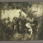 Frank Brangwyn (British, 1867-1956) Untitled (Bears and Circus Performers);