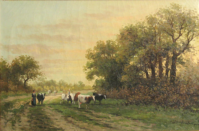 Dutch School Coming home 14 1/4 x 21 1/4in