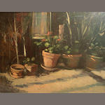 Kirby Waite, 20th century Flower Pots 34 x 42in