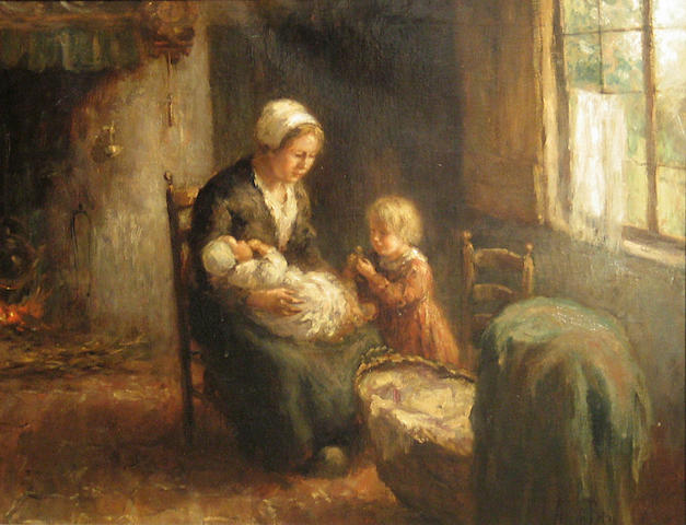 A. van den Berg (Dutch, 20th Century) Maternity 24 x 30in