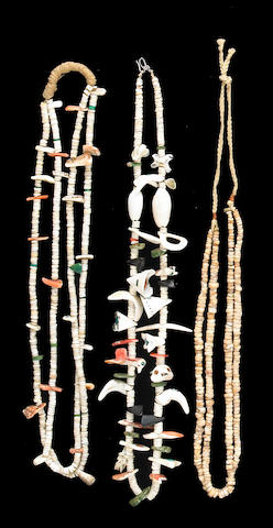 Three Pueblo necklaces