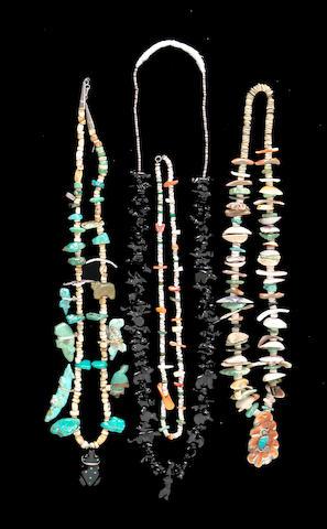Four Pueblo necklaces