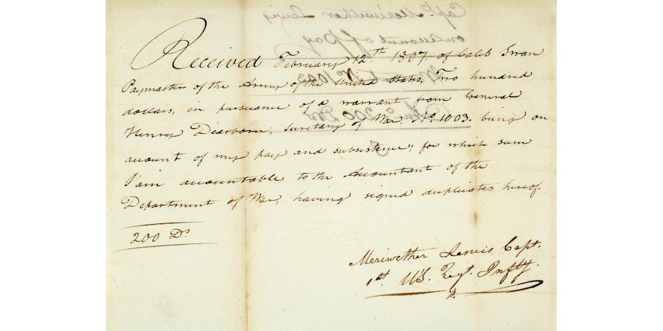 LEWIS, MERIWETHER. 1774-1809.