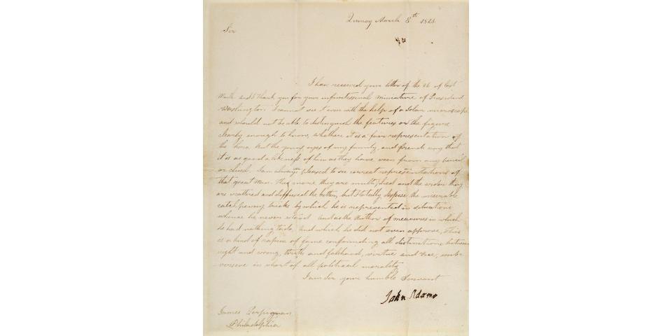 ADAMS, JOHN. 1735-1826.