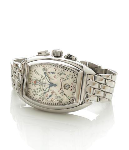 Franck Muller. A fine stainless steel automatic calendar bracelet watch King Conquistador, No.505, R