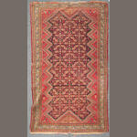 A Malayer rug size approximately 3ft. 10in. x 6ft. 3in.