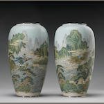 A pair of large cloisonné enamel vases Late Meiji Period, By Kawade Shibataro