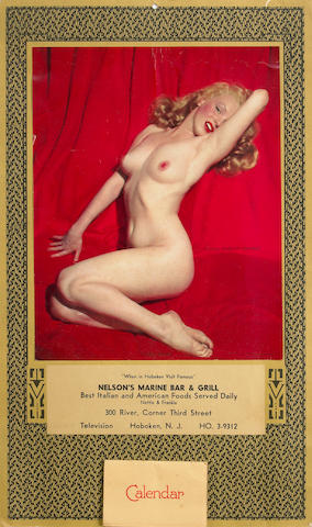 A Marilyn Monroe 'Golden Dreams' calendar, 1955