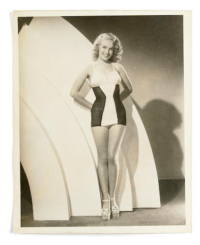 A Marilyn Monroe rare black and white publicity photograph, circa 1948