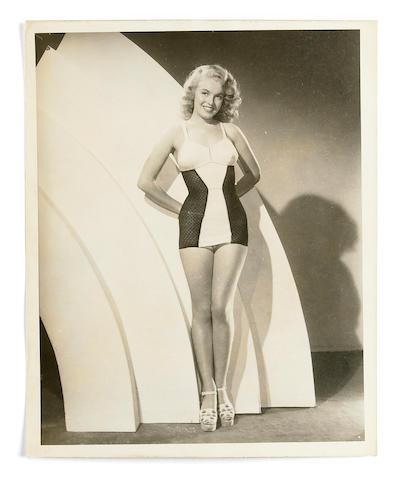 A Marilyn Monroe rare black and white publicity photograph, circa 1948