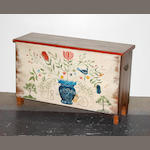 A Pennsylvania style paint decorated blanket chest