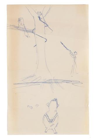 A Marilyn Monroe mysterious sketch, circa 1960