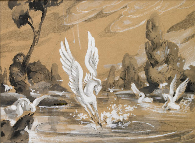 "A Walt Disney storyboard drawing from ""Fantasia"""