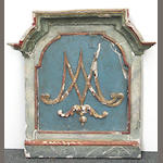 A pair of French paint decorated architectural panels