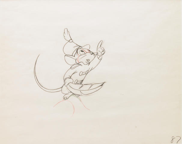 "A Walt Disney animation drawing from ""Dumbo"""