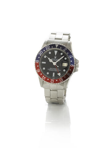 Rolex. A fine stainless steel automatic centre seconds twin time zone calendar bracelet watch togeth