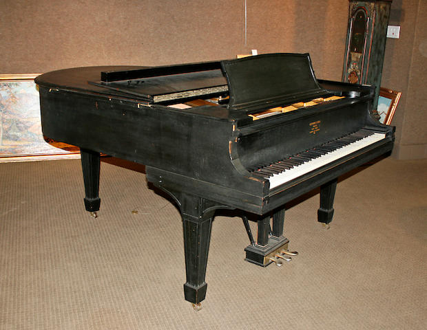 A Steinway and Sons ebonized grand piano