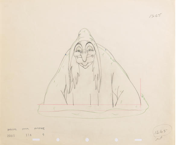 """A Walt Disney animation drawing from """"Snow White and the Seven Dwarfs"""""""