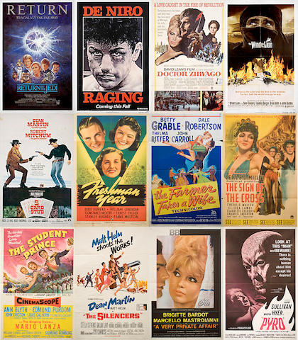 A large collection of one-sheet film posters, 1930s-1990s
