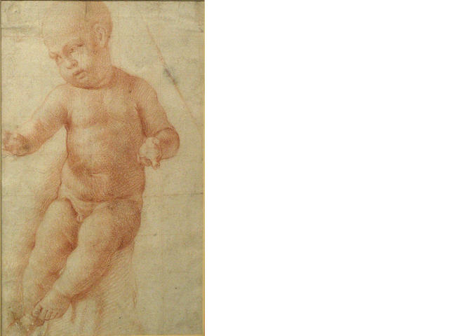 Italian School, 18th Century A study of an infant sight 12 x 7 1/4in