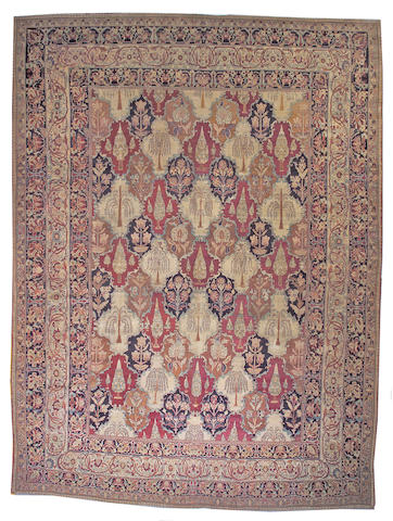 A Lavar Kerman carpet South Central Persia, size approximately 13ft. x 17ft. 8in.