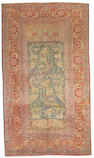 An Angorra Oushak carpet West Anatolia, size approximately 6ft. 9in. x 11ft. 9in.