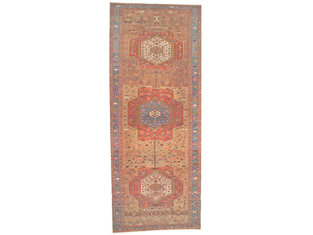 A Serapi carpet Northwest Persia, size approximately 7ft. 2in. x 17ft. 8in.