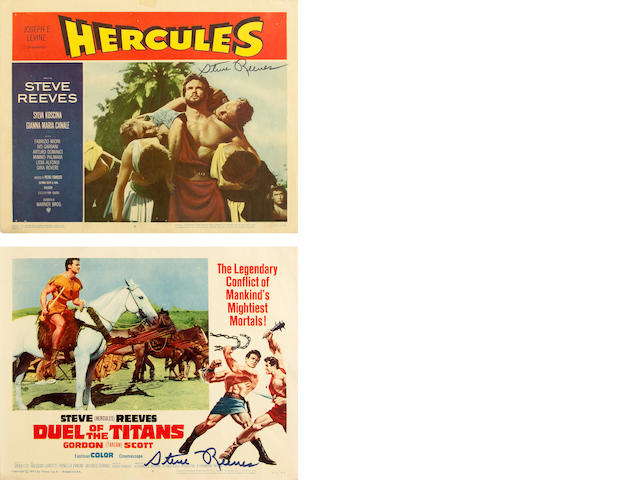 A Steve Reeves large collection of film posters, 1950s-1960s