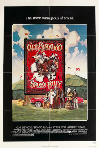 Five Clint Eastwood one sheet film posters