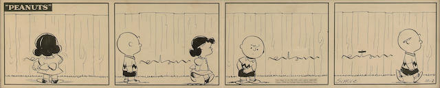 An early Charles Schulz Peanuts daily