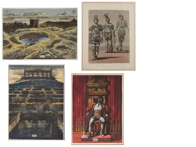 Eugene Berman (American, 1899-1972) Soldiers (Quo Vadis), 1943; Tramonto, Roma, 1960 - 1961; Untitle