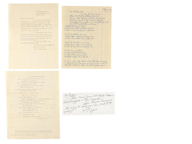 A Marilyn Monroe-related group of posthumous letters, 1962