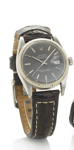 Rolex. A fine stainless steel automatic centre seconds calendar wristwatch Datejust, Ref:16000, 1985